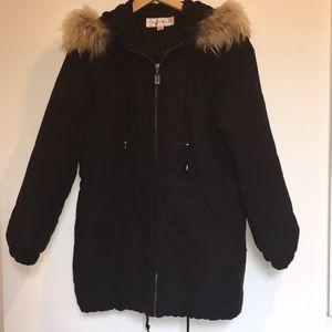 Warm brush Waterproof  Hodi COAT 12faux Mink Fur